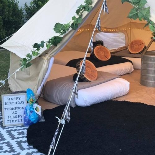 Camp out Glamping with az sleepy teepee (1)
